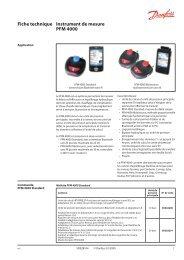PFM 4000 measuring instrument - Danfoss Chauffage