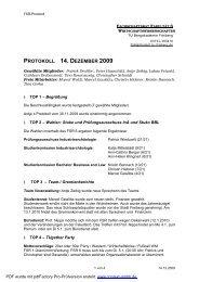 protokoll 14. dezember 2009 - Fakultät 6 - TU Bergakademie Freiberg