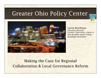 Greater Ohio Policy Center - Cleveland State University