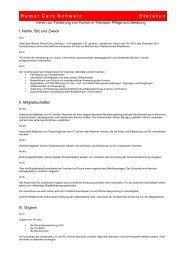 Statuten (PDF) - HumorCare Schweiz