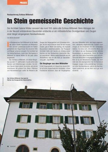 Renovation Schloss Wittenwil - text.im.takt.