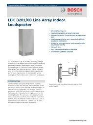 LBC 3201/00 Line Array Indoor Loudspeaker - SourceEN54.EU