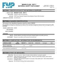 Brake Clutch Fluid A Dot 3 Product Data Sheet