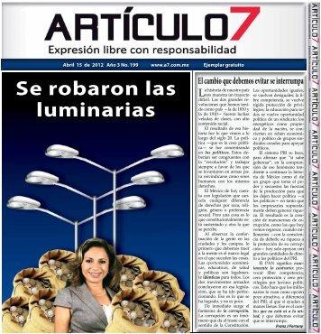 Se robaron las luminarias - a7.com.mx
