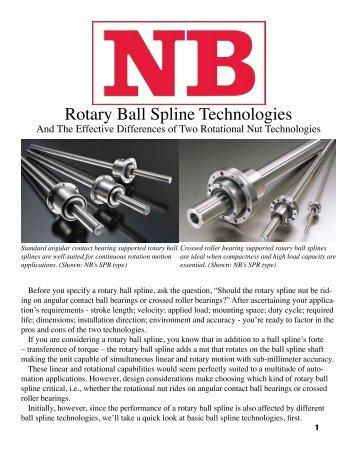 Rotary Ball Spline Technologies - NB Linear System