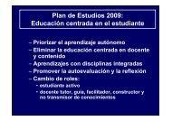 Plan de Estudios 2009: Educación centrada en el estudiante