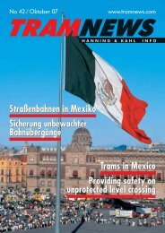 Straßenbahnen in Mexiko Sicherung unbewachter ... - Hanning & Kahl