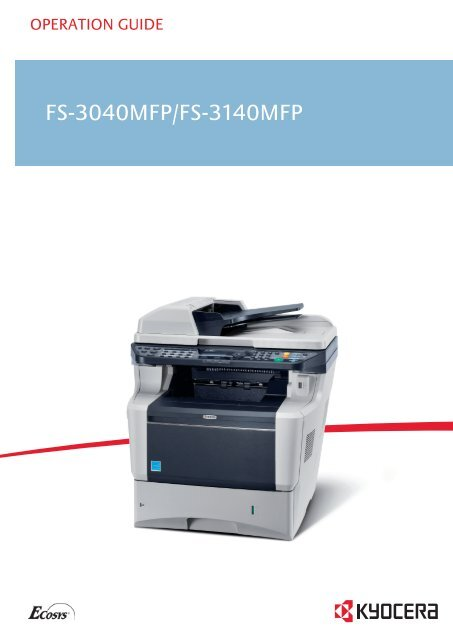 Fs-3040mfp fs-3140mfp og eng - KYOCERA Document Solutions