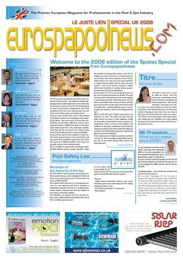 the 2008 edition of the Spatex - Eurospapoolnews.com
