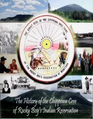 The history of the Chippewa Cree of Rocky Boy's Indian Reservation