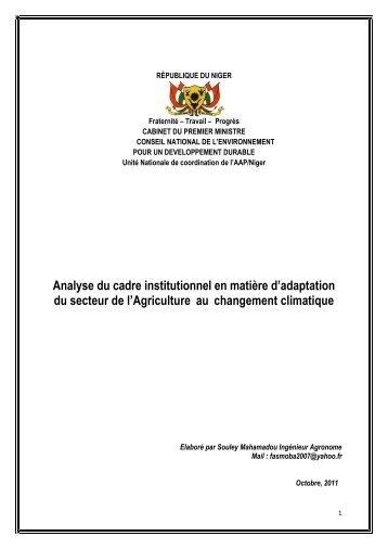 Analyse_Cadre_Instit_Adapt_Agriculture_oct 2011.pdf - Africa ...