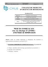 COLLEGE DE MEDECINE D'URGENCE DE BOURGOGNE - CMUB