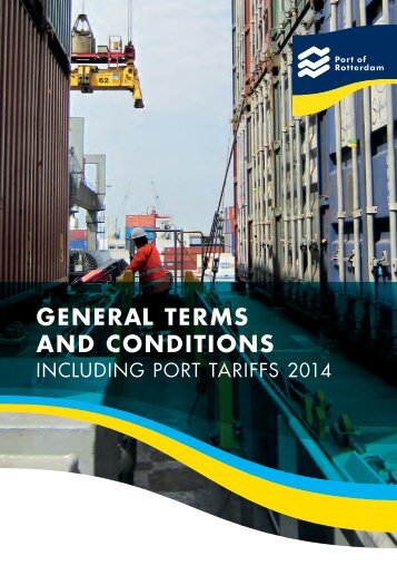 General Terms and Conditions - Port of Rotterdam