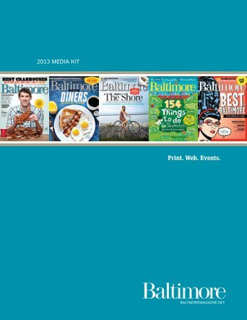to view our 2013 media kit [PDF] - Baltimore magazine