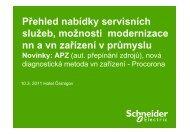 Přehled nabídky servisních služeb, možnosti modernizace nn a vn ...