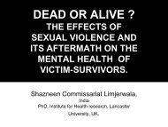 Dead or alive? - SVRI Forum 2009
