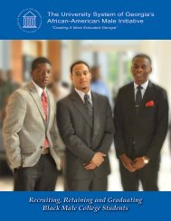 Recruiting, Retaining and Graduating Black Male College Students
