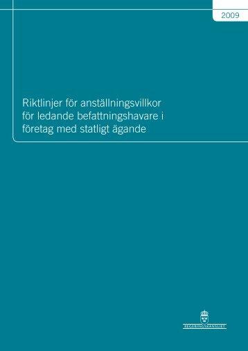 Riktlinjer för anställningsvillkor för ledande ... - Swedavia