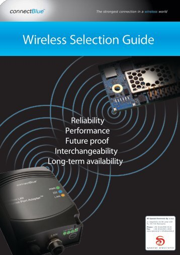 Wireless Selection Guide - SE Spezial-Electronic Sp. z o.o