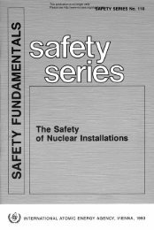 This publication is no longer valid Please see http://www-ns.iaea.org ...