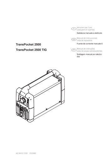 TP 2500, TP2500 VRD, TP 2500 TIG, TP 2500 TIG VRD - dpiaca