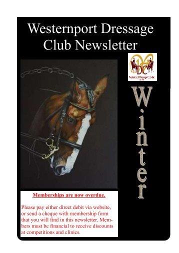 Westernport Dressage Club Newsletter - the Westernport Dressage ...