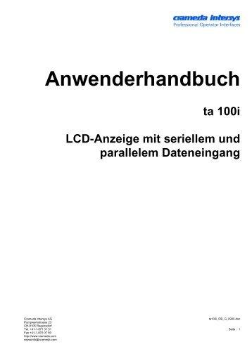 Anwenderhandbuch - crameda intersys ag