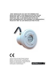 """mini"" monocolour led light for swimming pool ... - Partnerline AS"