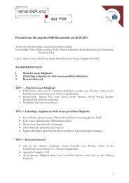 Protokoll zur Sitzung des FSR Romanistik am 20.10.2011