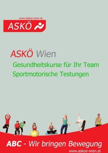 Bewegungsangebote der ASKÖ Wien für die Austrian Airlines
