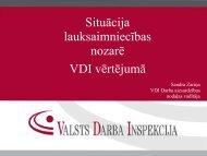 Situācija lauksaimniecības nozarē VDI vērtējumā - Valsts Darba ...