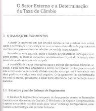 o Setor Externoe a Determinação da Taxa de Câmbio - FESP