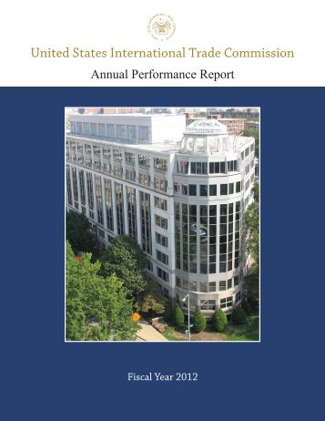 FY 2012 Annual Performance Report [PDF] - USITC