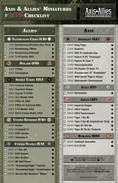 AXIS & ALLIES™ MINIATURES CHECKLIST - Wizards of the Coast
