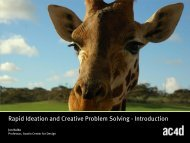 Rapid Ideation and Creative Problem Solving - Austin Center for ...