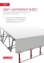 UBIX® LIghTWEIghT ShEET - Combisafe