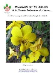 Documents sur les Activités de la Société botanique de France