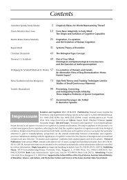 Contents - Konrad Lorenz Institute