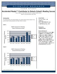 Accelerated ReaderTM Contributes to Ontario School's Reading ...