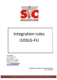 Integration rules i103LG-FU - SIC-Venim s.r.o.