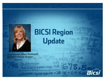 Northeast Region Update - Bicsi