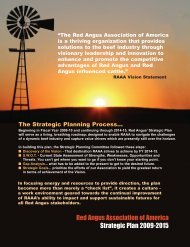 Red Angus Association of America Strategic Plan 2009-2015
