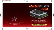 RadarHAWK SBIII Manual 051507 1 - Safe Home Products