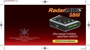 RadarHAWK SBIII Manual 051507 1 - Safe Home Products