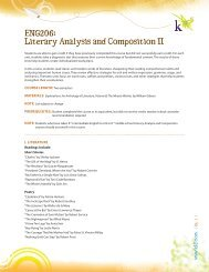 ENG206: Literary Analysis and Composition II - K12.com