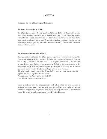 ANEXOS Correos de estudiantes participantes de Joao Anaya de la ...