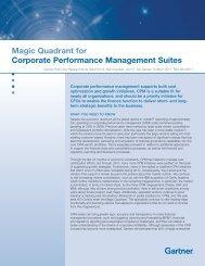 Magic Quadrant for Corporate Performance Management Suites