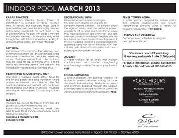 INDOOR POOL MARCH 2013