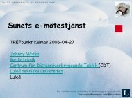 Nätbaserade möten - SUNET-projekt mm