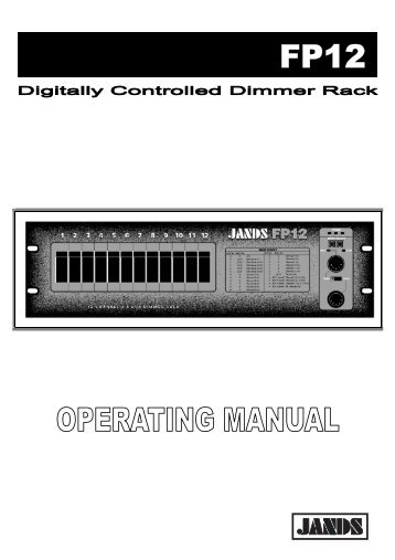 FP Dimmer Rack Mount Operating Manual - Jands